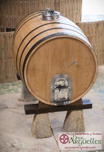 tonel de castaño, puertas acero para vino